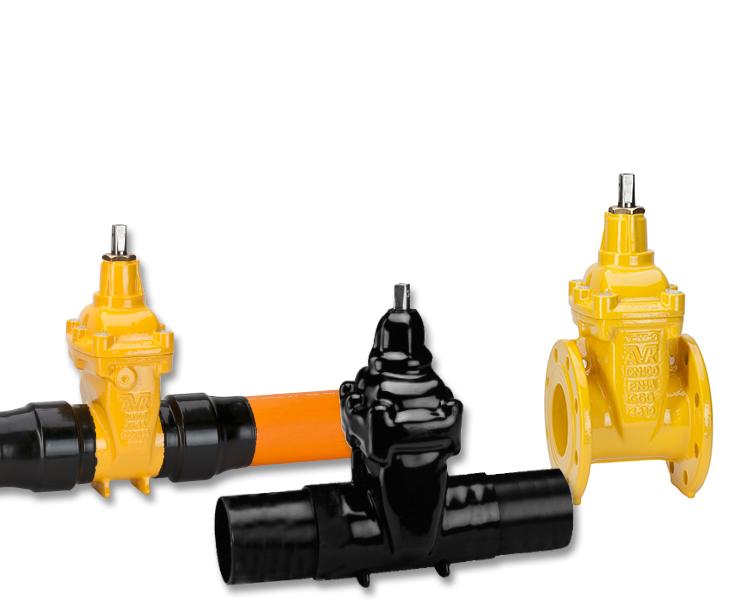 Gate valves for gas supply