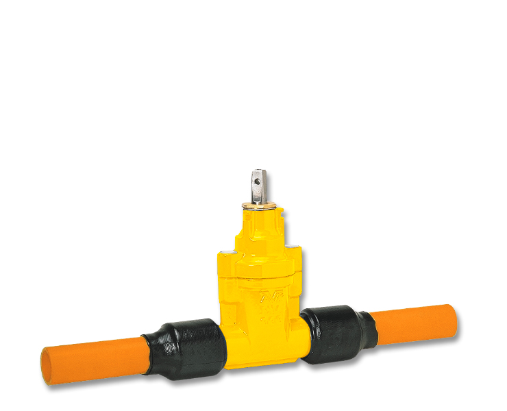 House connection valve for gas supply