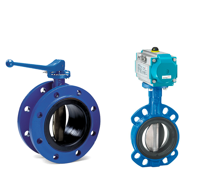 Butterfly valves for wastewater